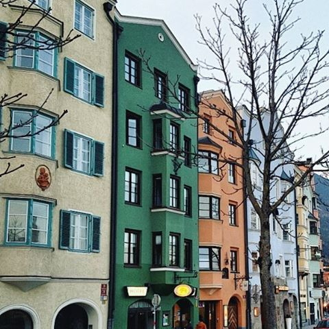 These buildings in Innsbruck Austria remind me of the Netherlandshellip