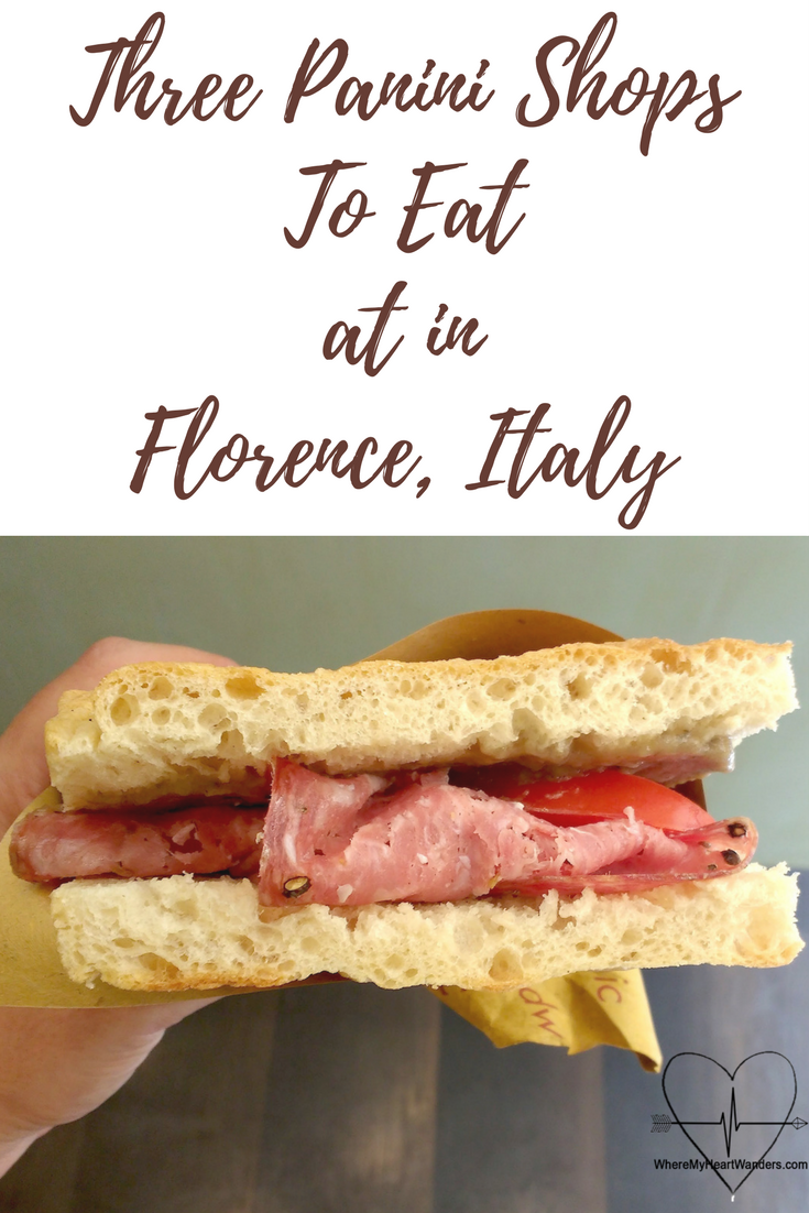 Panini Shop to eat at while in Florence, Italy